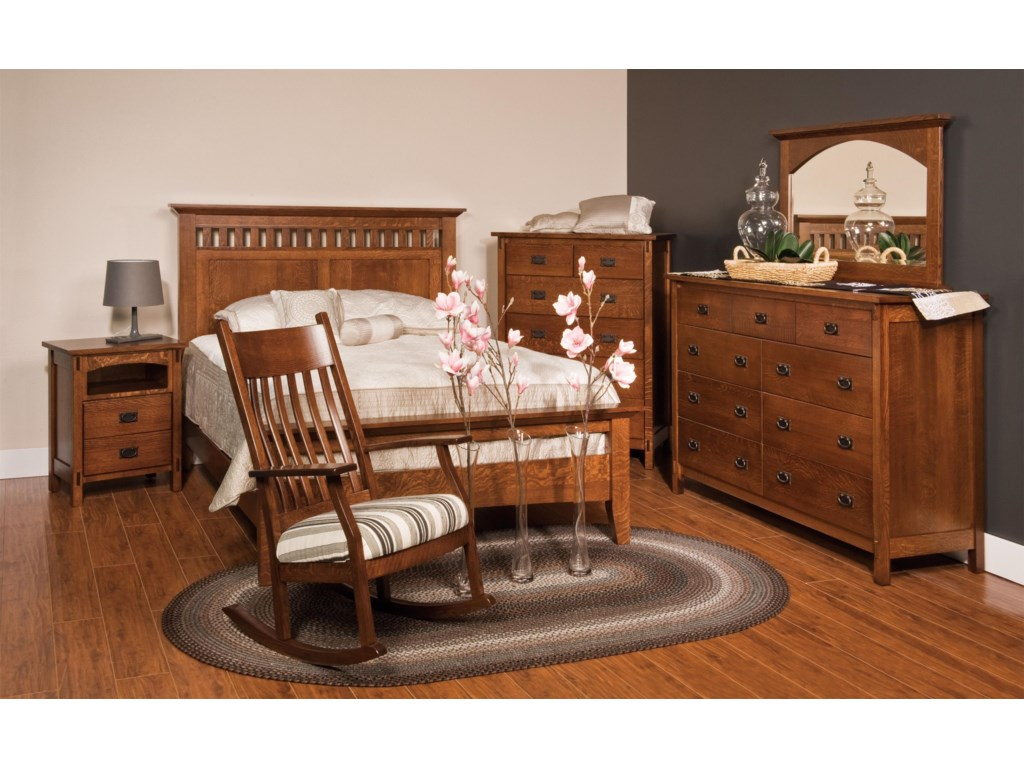 Shown with Bed, Nightstand, Dresser and Mirror