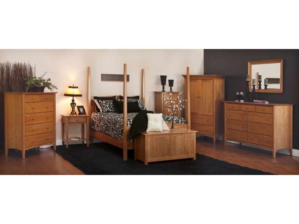 Shown with Bed, Dresser and Mirror, Chest, Blanket Chest, Nightstand, and Lingerie Chest