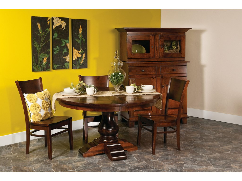 Shown with Round Table, Buffet, and Hutch
