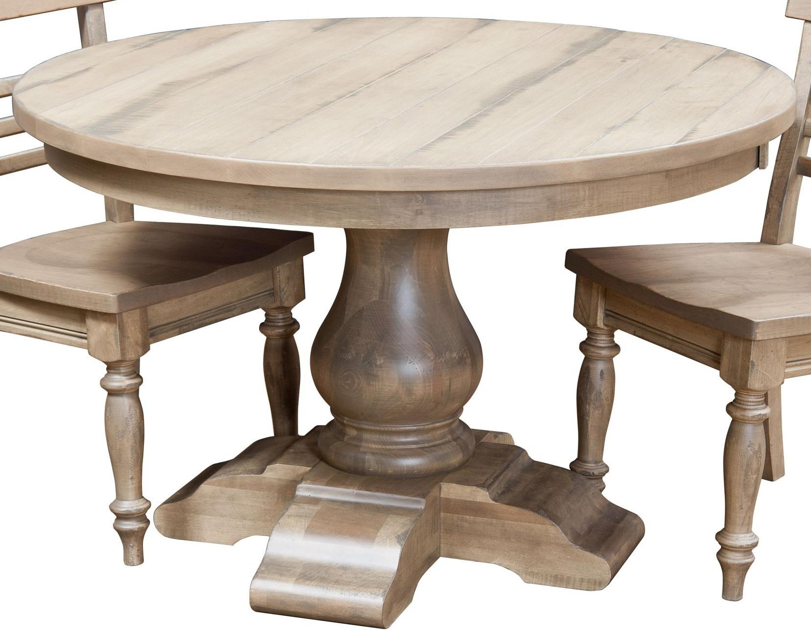 wellington 60 round dining pedestal table morris home kitchen table rh morrisathome com 60 round dining room tables with leaves 60 inch round dining room set