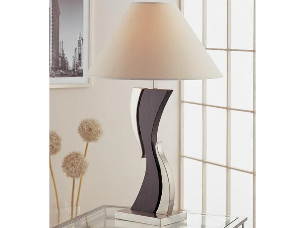 Anthony of California Lamps 5380 Contemporary Table Lamp and Shade ...