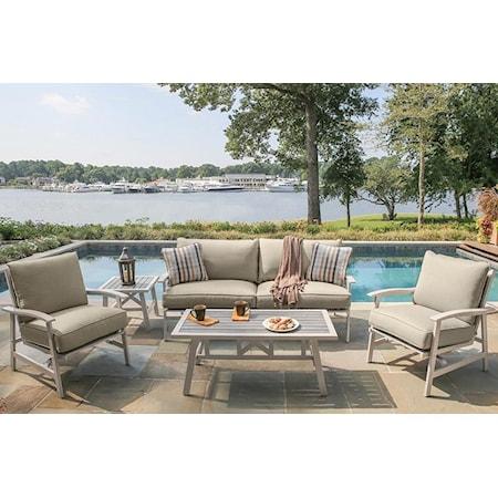 Sofa, 2 Lounge Chairs, Coffee Table