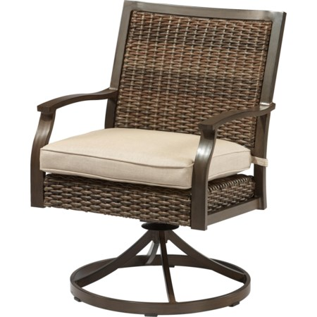 Swivel Chair with Seat Cushion