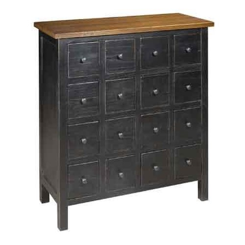 Archbold Furniture Allwood Accents Hardwood Apothecary Cabinet: Black/Toast