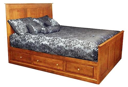 Archbold Furniture Custom Amish King Storage Bed