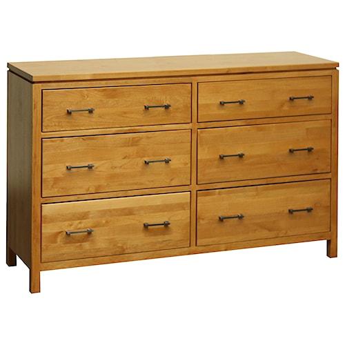 Archbold Furniture 2 West 6 Drawer Dresser with 2 Blanket Drawers
