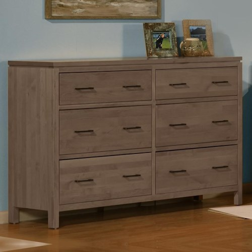 Archbold Furniture 2 West 6 Drawer Dresser with 2 Blanket Drawers