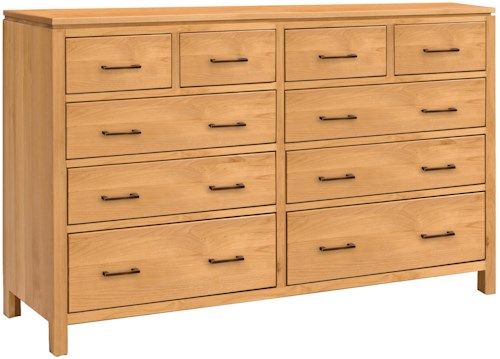 Archbold Furniture 2 West 10 Drawer Dresser with 2 Blanket Drawers