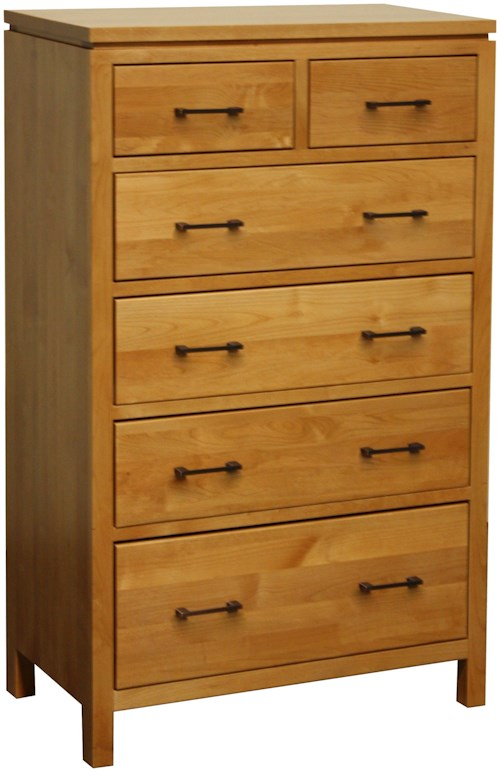 Archbold Furniture 2 West 6 Drawer Chest with Blanket Drawer