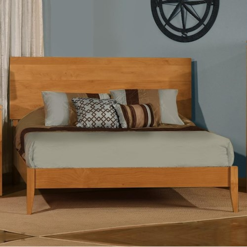 Archbold Furniture 2 West Customizable Solid Wood Queen Platform Bed