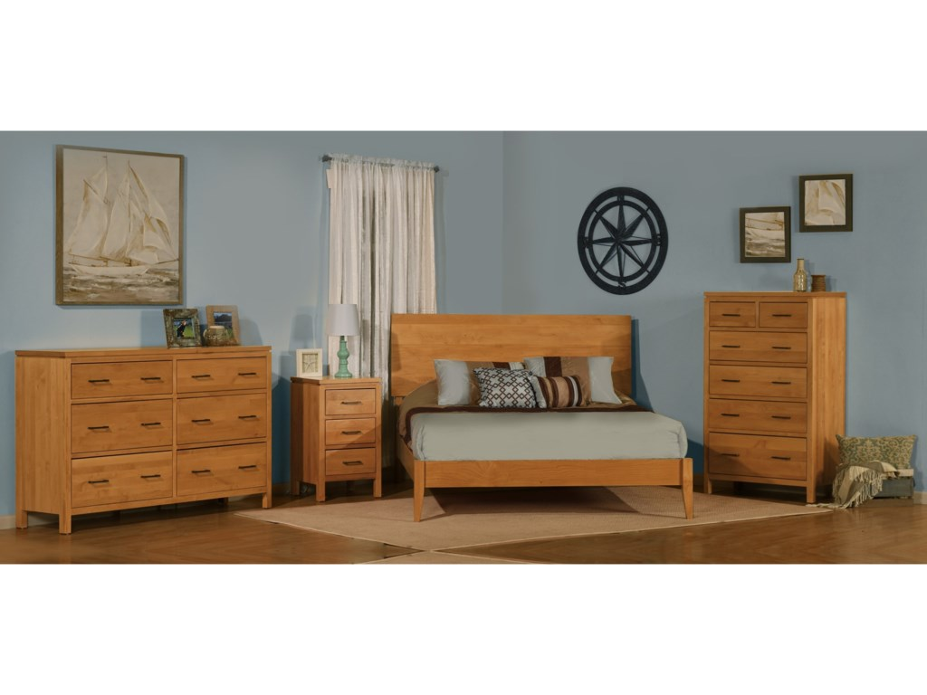 Archbold Furniture 2 WestQueen Modern Platform Bed