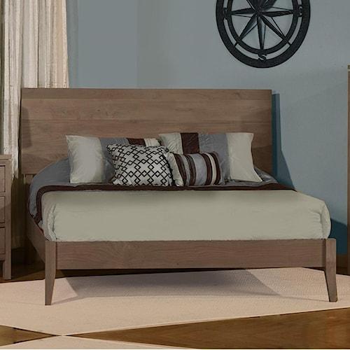 Archbold Furniture 2 West Customizable Solid Wood King Platform Bed