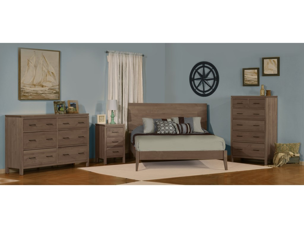 Archbold Furniture 2 WestKing Platform Bed