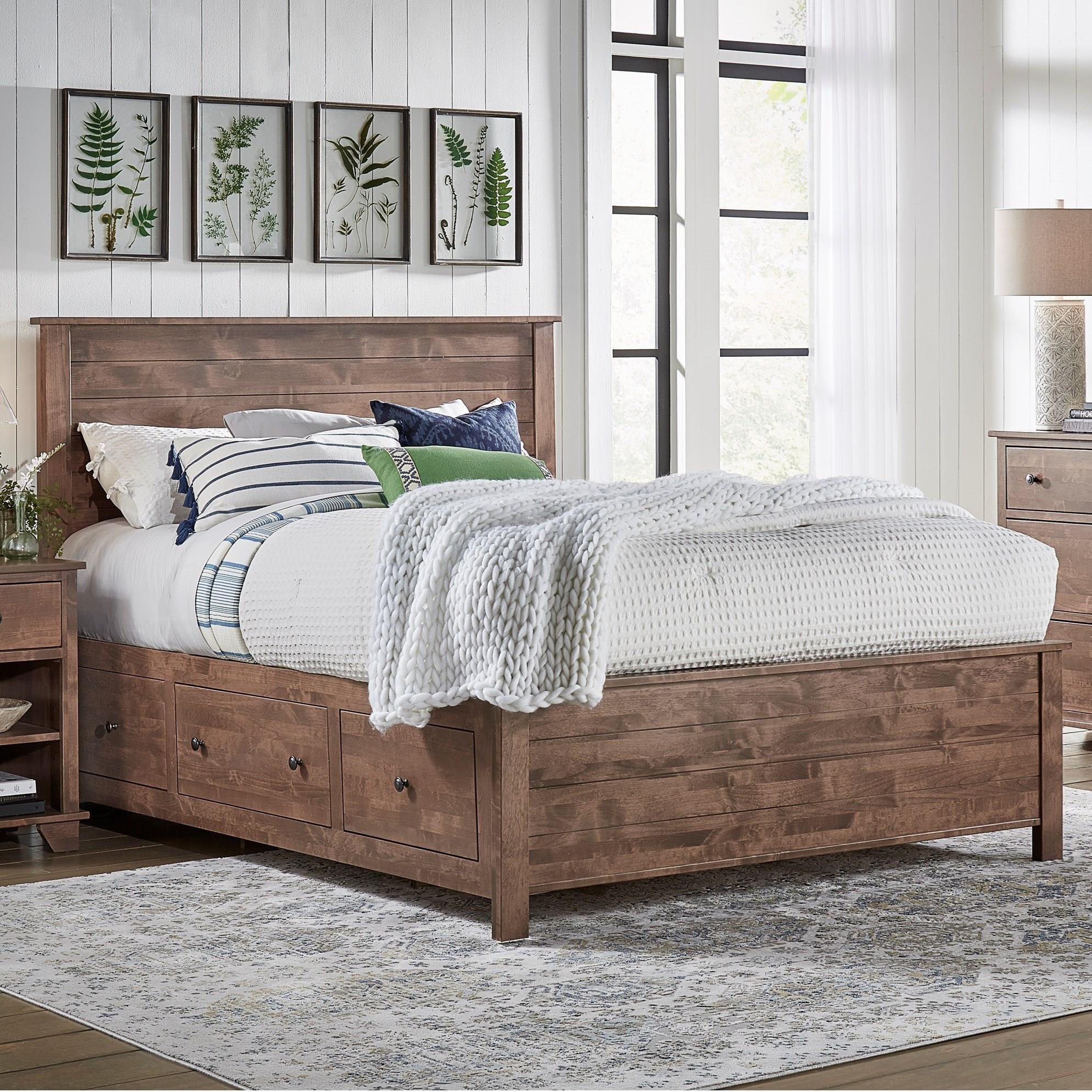 Queen Shiplap Storage Bed