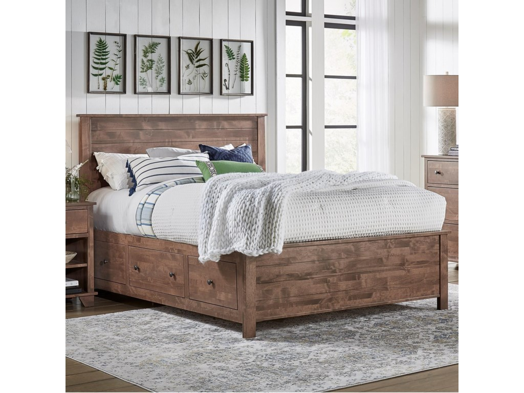 Archbold Furniture PortlandQueen Shiplap Storage Bed