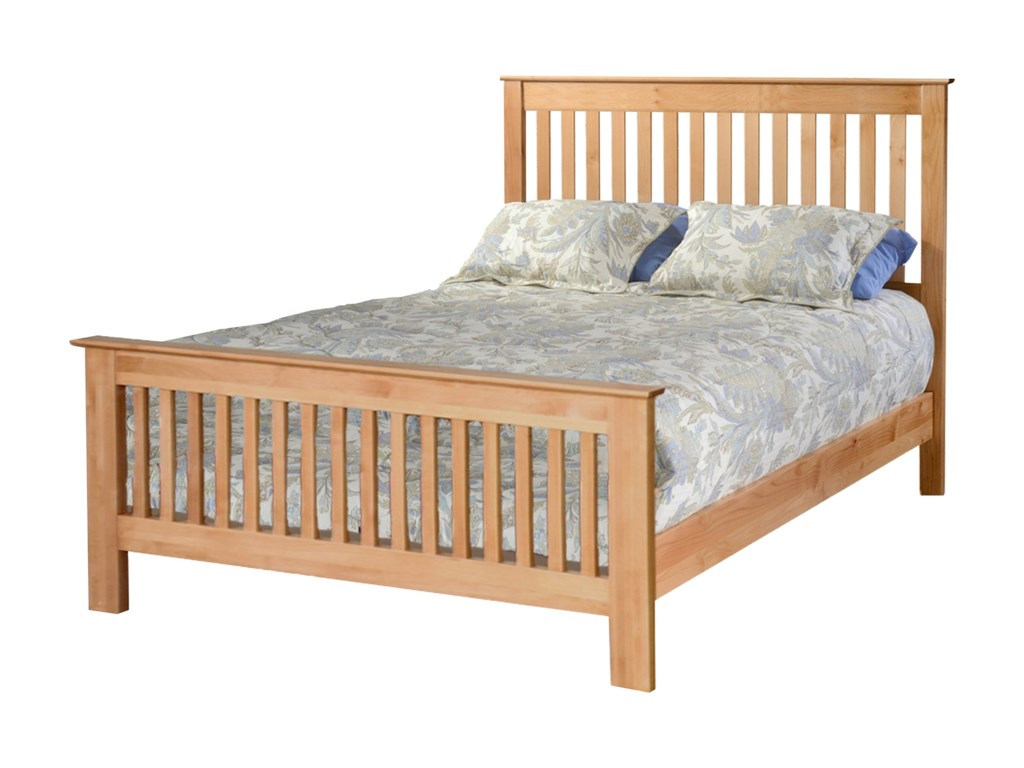 Archbold Furniture ShakerQueen Slat Bed