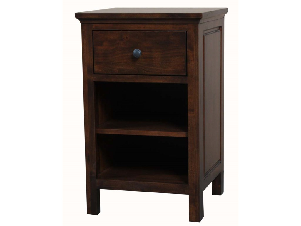 Archbold Furniture Alder Heritage1 Drawer Night Stand