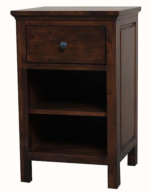 Archbold Furniture Alder Heritage American Made 1 Drawer Night Stand