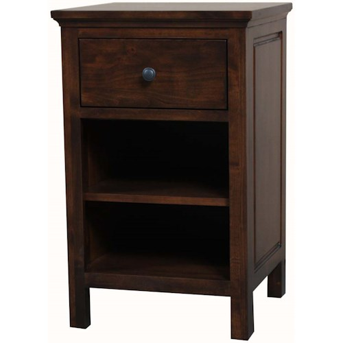 Archbold Furniture Alder Heritage American Made 1 Drawer Night Stand