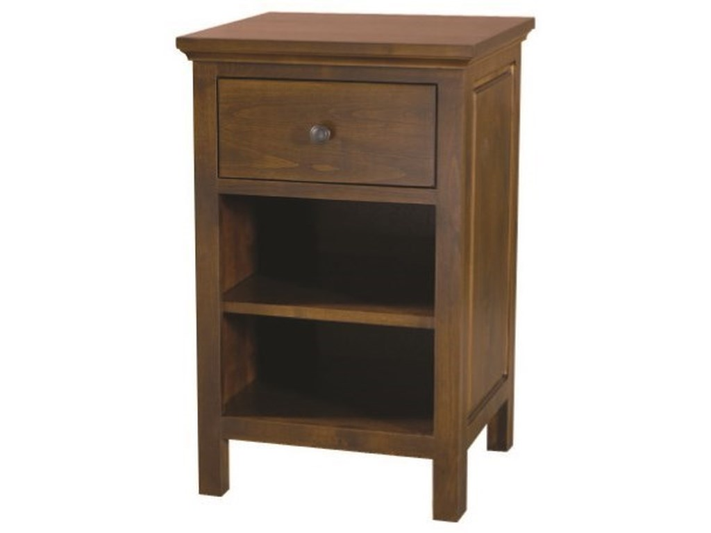 Archbold Furniture Alder Heritage1-Drawer Night Stand