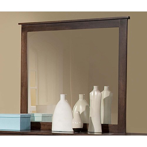 Archbold Furniture Alder Heritage Mirror with Top Molding