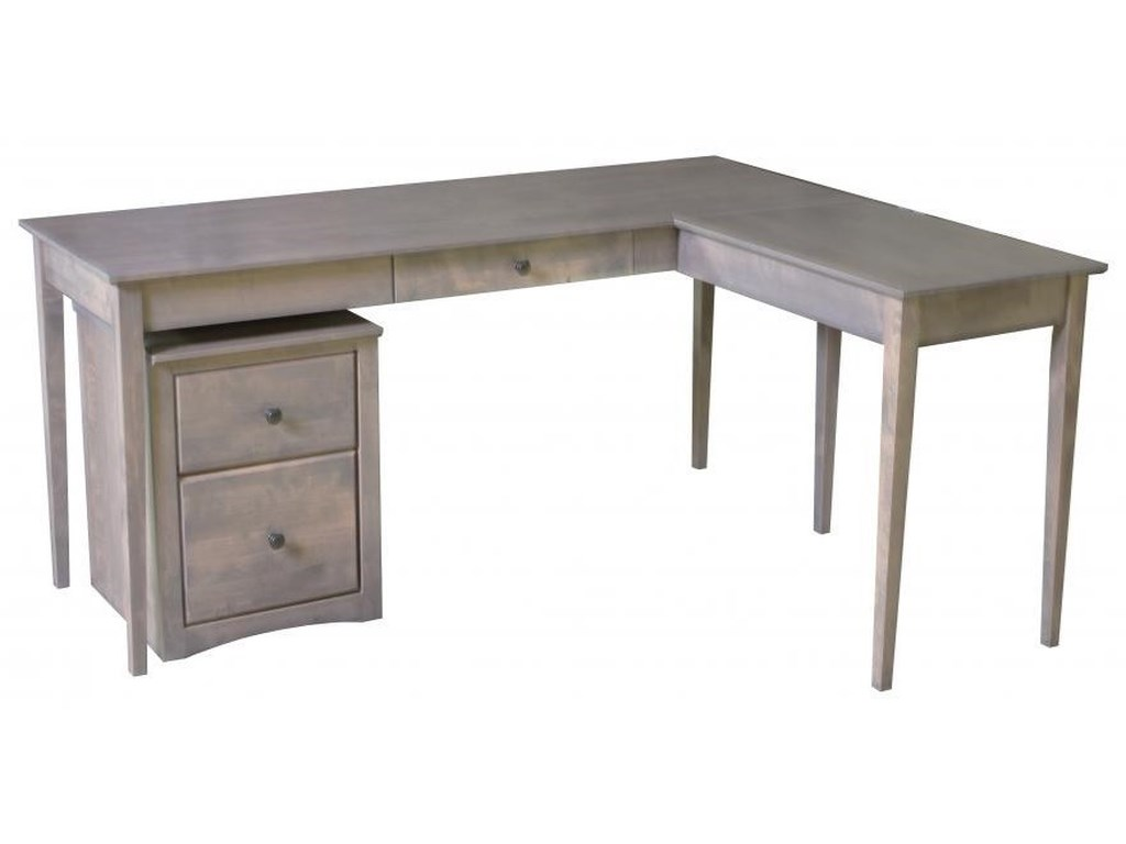 Archbold Furniture Alder Shaker Home OfficeWriting Desk with Return