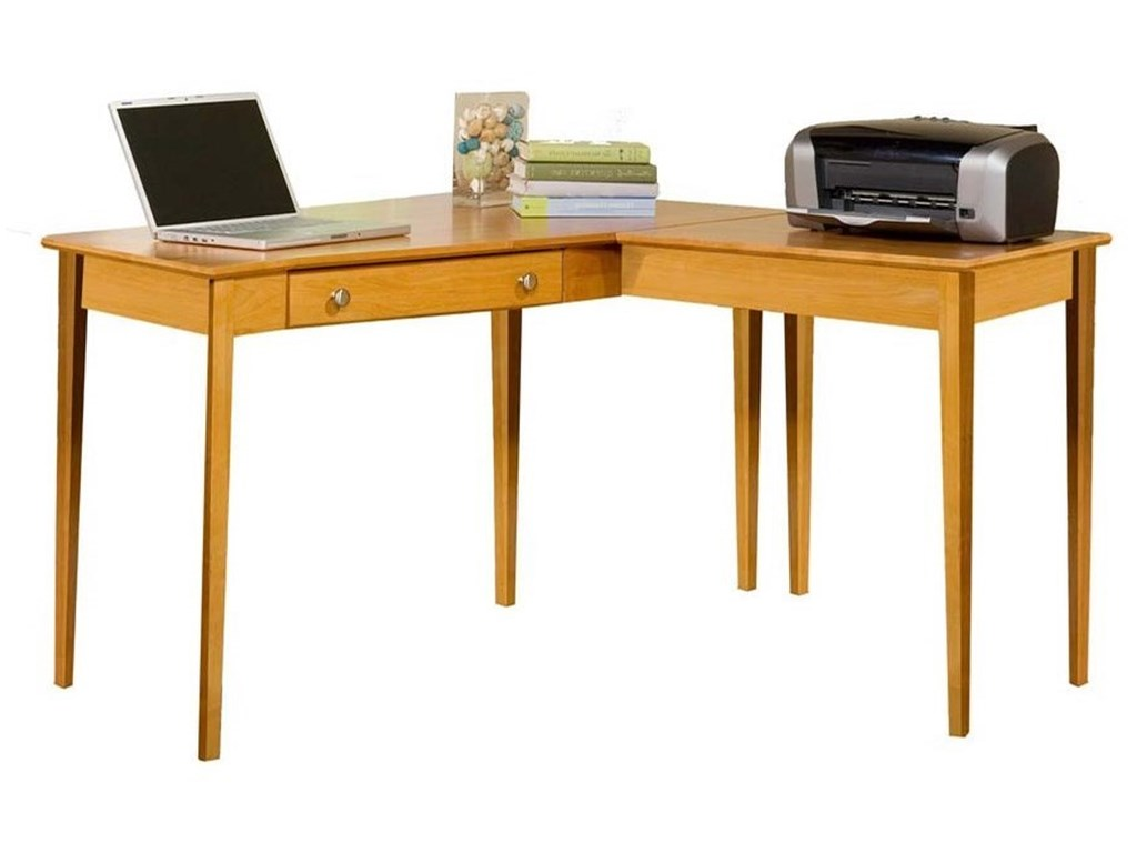 Archbold Furniture Alder Shaker Home OfficeL Shape Table Desk