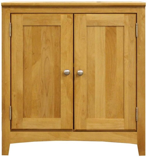 Archbold Furniture Alder Home Office American Made 2 Door Home Office Cabinet