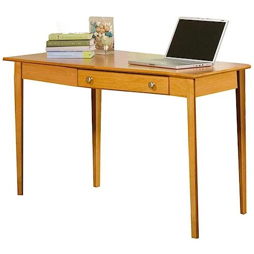 Archbold Furniture Alder Home Office Left Wedge Desk with 1 Drawer