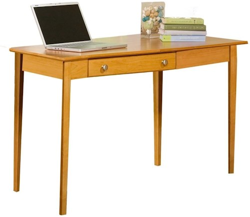 Archbold Furniture Alder Home Office Right Wedge Desk with 1 Drawer