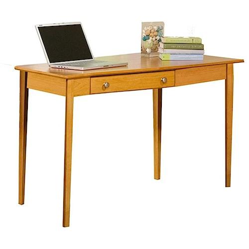Archbold Furniture Alder Home Office Right Wedge Desk with 1 Drawer