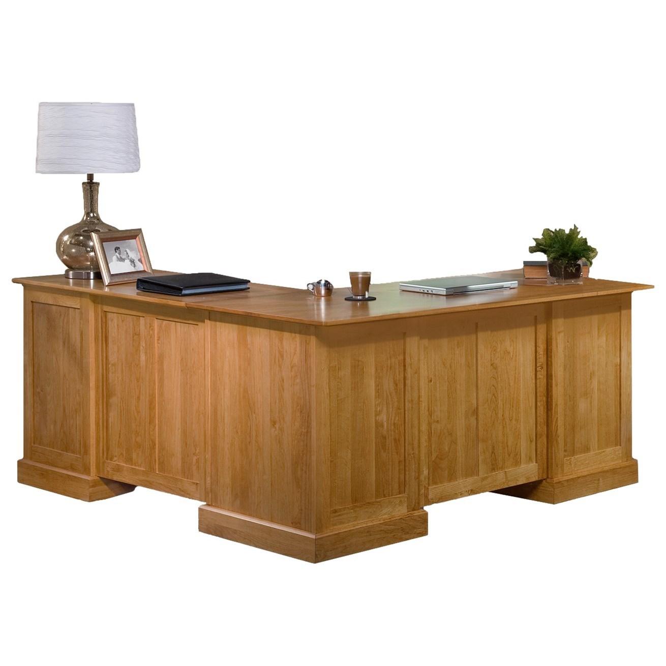 American Made L Shape Desk and Return