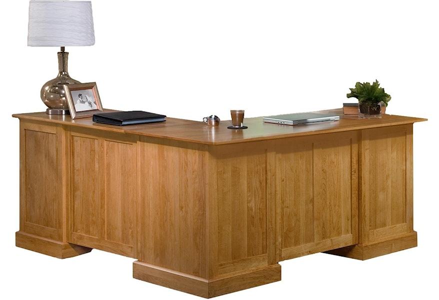 Archbold Furniture Executive Home Office Arc6550x 6551x American Made L Shape Desk And Return Esprit Decor Home Furnishings L Shape Desks