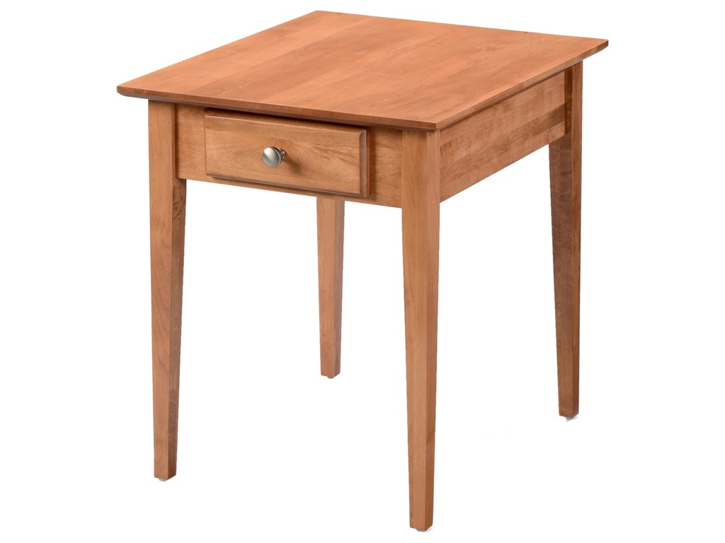 Archbold Furniture Alder Shaker TablesLarge End Table