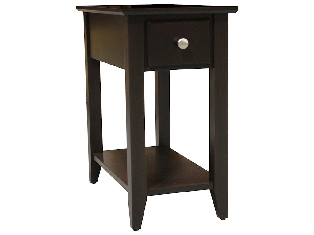 Archbold Furniture Alder Shaker TablesChairside Table