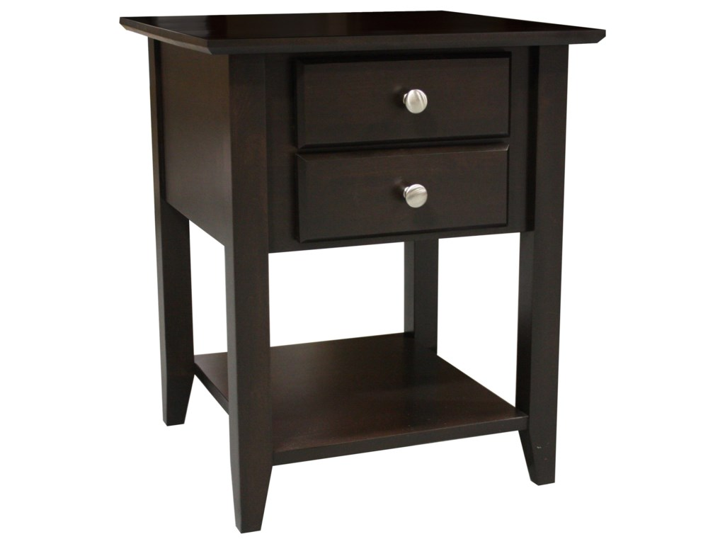 Archbold Furniture Alder Shaker TablesEnd Table