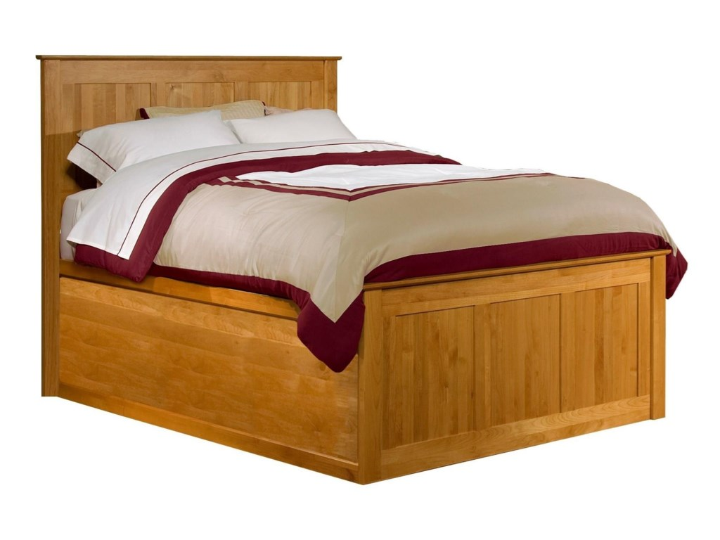 Archbold Furniture Shaker BedroomQueen Chest Bed with Blank Pedestal