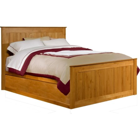 Queen Chest Bed with Blank Low Pedestal