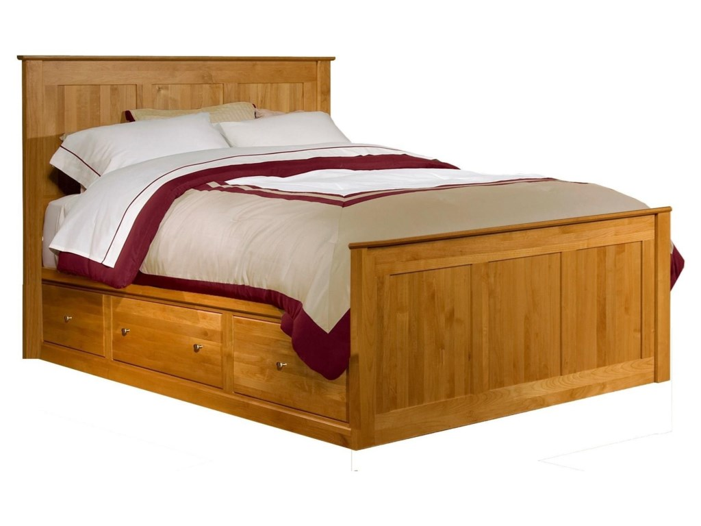 Archbold Furniture Shaker BedroomQueen Chest Bed with 3 Drawers