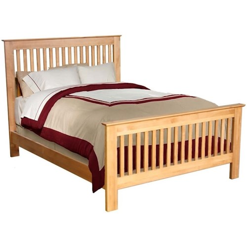 Archbold Furniture Alder Shaker Solid Wood Twin Slat Bed