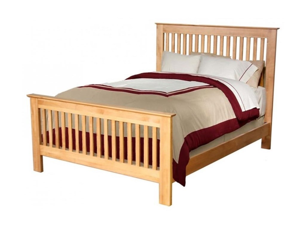 Archbold Furniture Alder ShakerFull Slat Bed