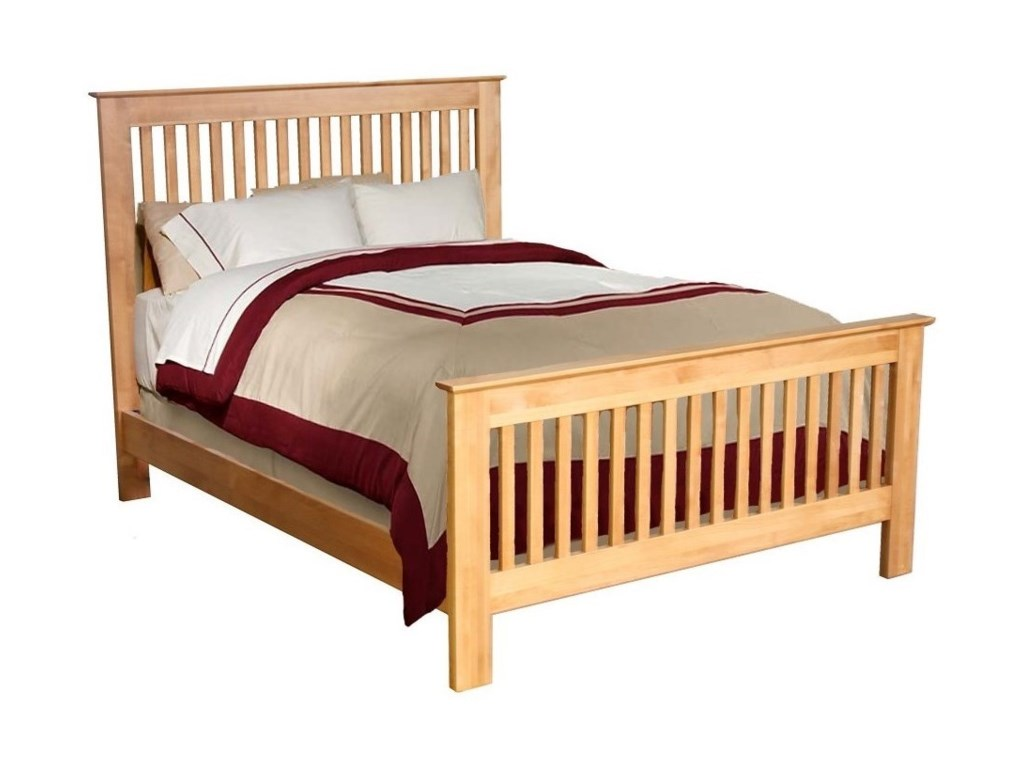 Archbold furniture alder shakerqueen slat bed