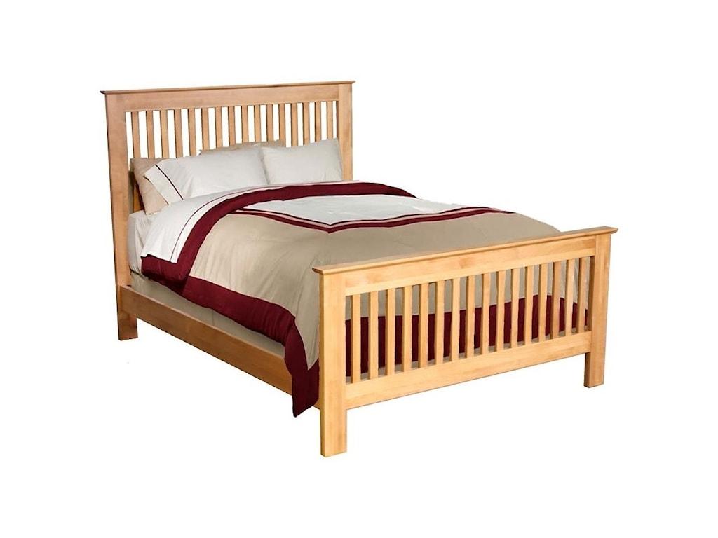 Archbold Furniture Alder ShakerQueen Slat Bed