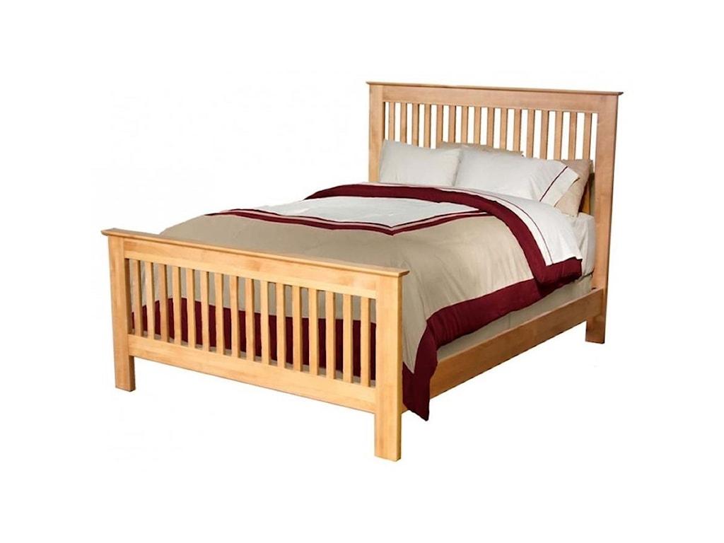 Archbold furniture alder shakerking slat bed