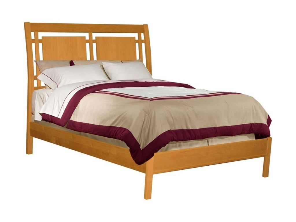 Archbold Furniture 2 WestQueen Modern Sleigh Bed