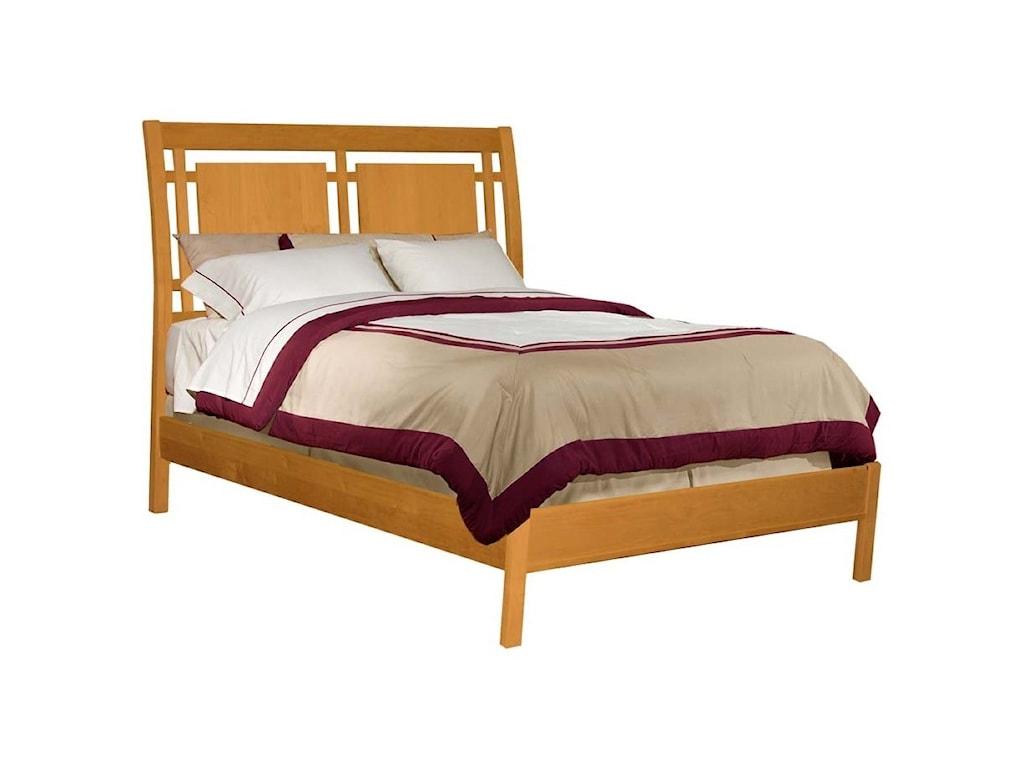 Archbold Furniture Alder ShakerQueen Modern Sleigh Bed