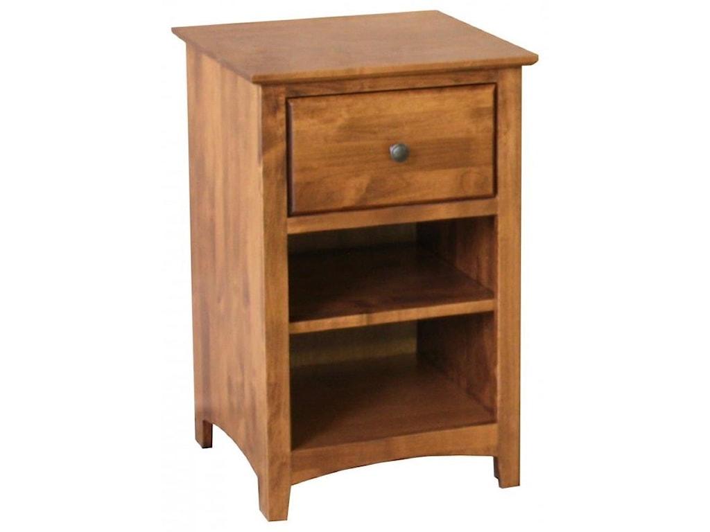 Archbold Furniture Alder ShakerNightstand