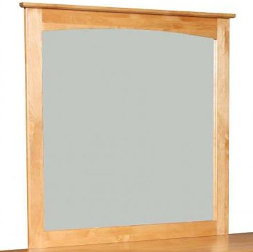 Archbold Furniture Alder Shaker Mirror with Lightly Arched Accent