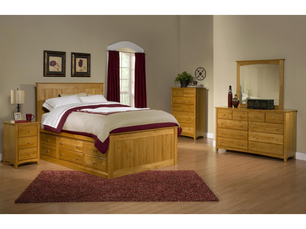 Archbold Furniture Alder ShakerKing Bedroom Group 2