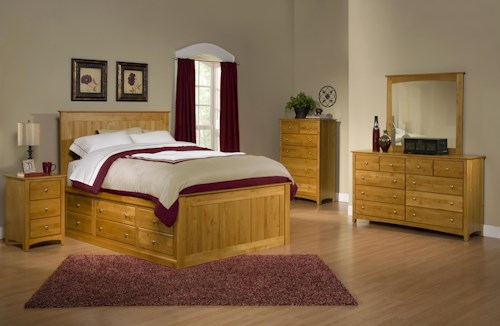 Archbold Furniture Alder Shaker King Bedroom Group 1